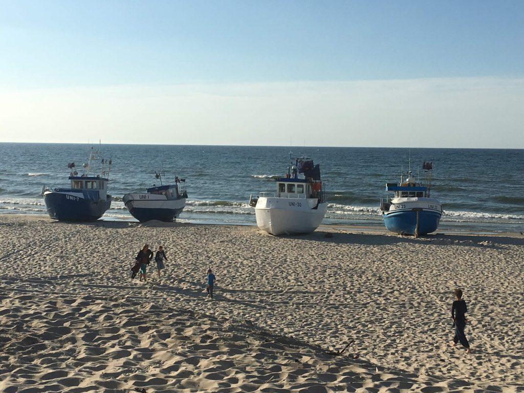 Przystań rybacka w Unieściu